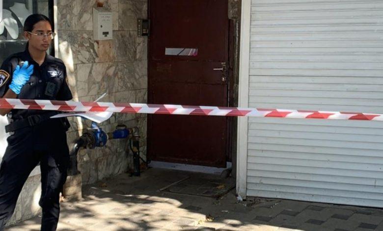"""""""תאונת עבודה,קטלנית עבור הפרוץ לדירה בנביאים חיפה. צילום: דוברות המשטרה"""