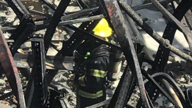 """Photo of חוקר שריפות: """"השריפה במפעל שמן, כתוצאה משריפת פסולת יזומה של המפעל בחצר האחורית"""""""