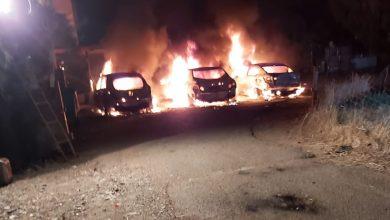 שריפת הרכבים בקריות וקריית אתא הפכו לתופעה מדאיגה. צילום: דוברות כבאות