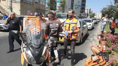 זירת התאונה הקשה בעצמאות בקריית אתא. צילום: איחוד הצלה