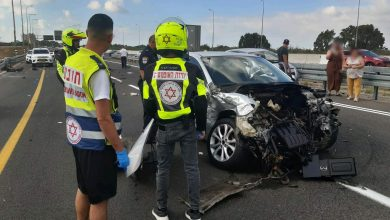Photo of גבר בן 40 במצב אנוש לרחר שרכבו התנגש במעקה בטיחות בכביש מהצ'ק פוסט