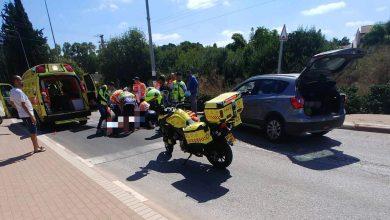 Photo of רוכב אופנוע בן 30 במצב קשה לאחר שרכב פגע בו סמוך לרמת יוחנן