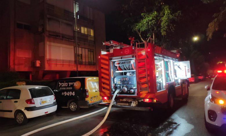 שריפה בביאליק שהביאה למותו של בן ה-70. צילום כיבוי אש
