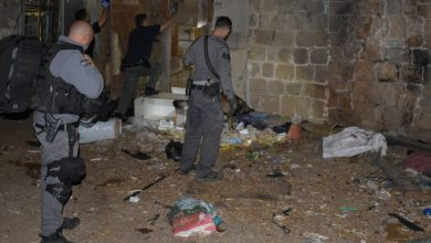 "Photo of כוחות יס""מ, חבלה ומשטרה רבים הרסו הבוקר מבנה בעכו, שהוסב בלב שכונת מגורים לאורוות סוסים ובה מחסן תחמושת ותחנת סמים"