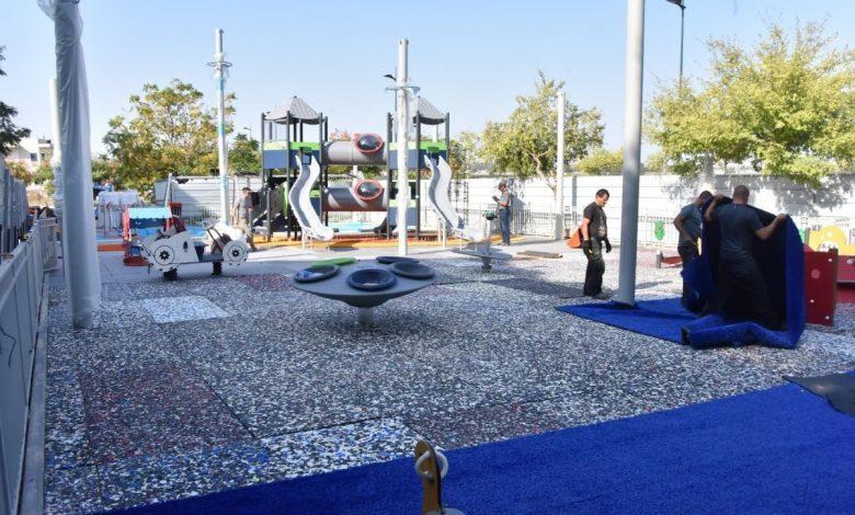 הגן החדש כולל פארק שעשועים עם מתחמי פעילות שונים לפעוטות, לילדים ולבוגרים. צילום: עיריית ק. אתא