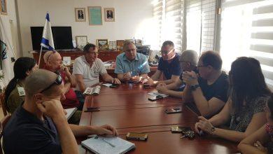 ישיבה של הנהלת עיריית קריית ביאליק לאור המצב הבטחוני. צילום: עיריית ק. ביאליק