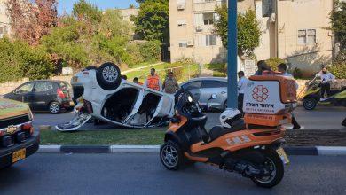 Photo of יום של תאונות ברחבי חיפה. לפני זמן קצר, קשיש בן 80 התהפך עם רכבו בחניתה. לפני כן: פגיעה בהולך רגל כבן 75 בשדרות ורבורג