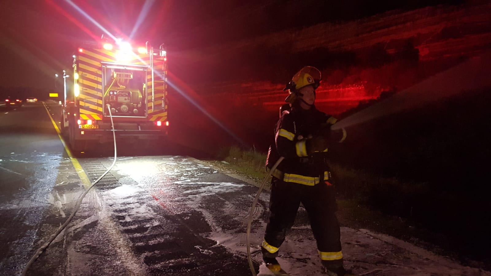 כיבו את השריפה והצילו את הכלב. צילום כיבוי אש