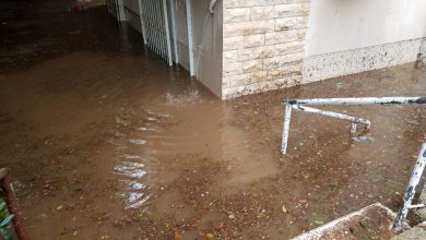 חלק מהבתים שהוצפו ברחבי חיפה. צילום: איחוד הצלה