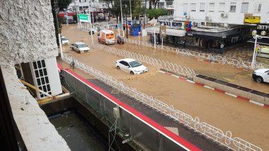 המצב בגעתון בנהריה, שם התהפך הרכב והילד נעדר ממנו. צילום: דוברות איחוד הצלה