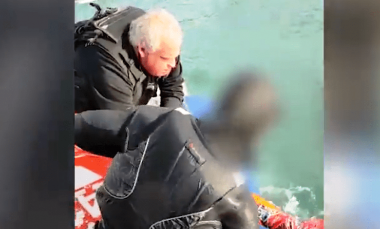 ניצל מטביעה עי יחידת השיטור הימי. צילום דוברות