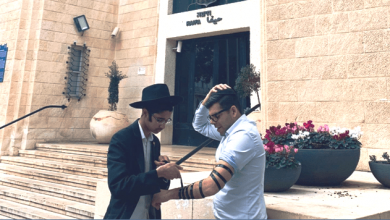 שובר מניח נכון. צילום חבד חיפה