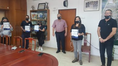 Photo of ראש עיריית קריית ביאליק העניק תעודות הוקרה לעובדי הרשות שפעלו בתקופת הקורונה