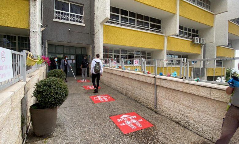 Photo of תלמידי החטיבות העליונות בחיפה שבים לספסל הלימודים