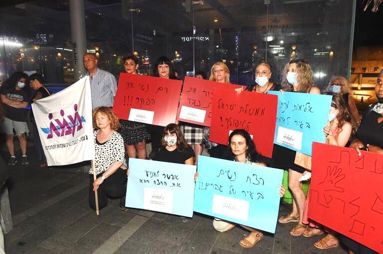 מחאת הנשים במרכז הכרמל. צילום ג'ו לוציאנו