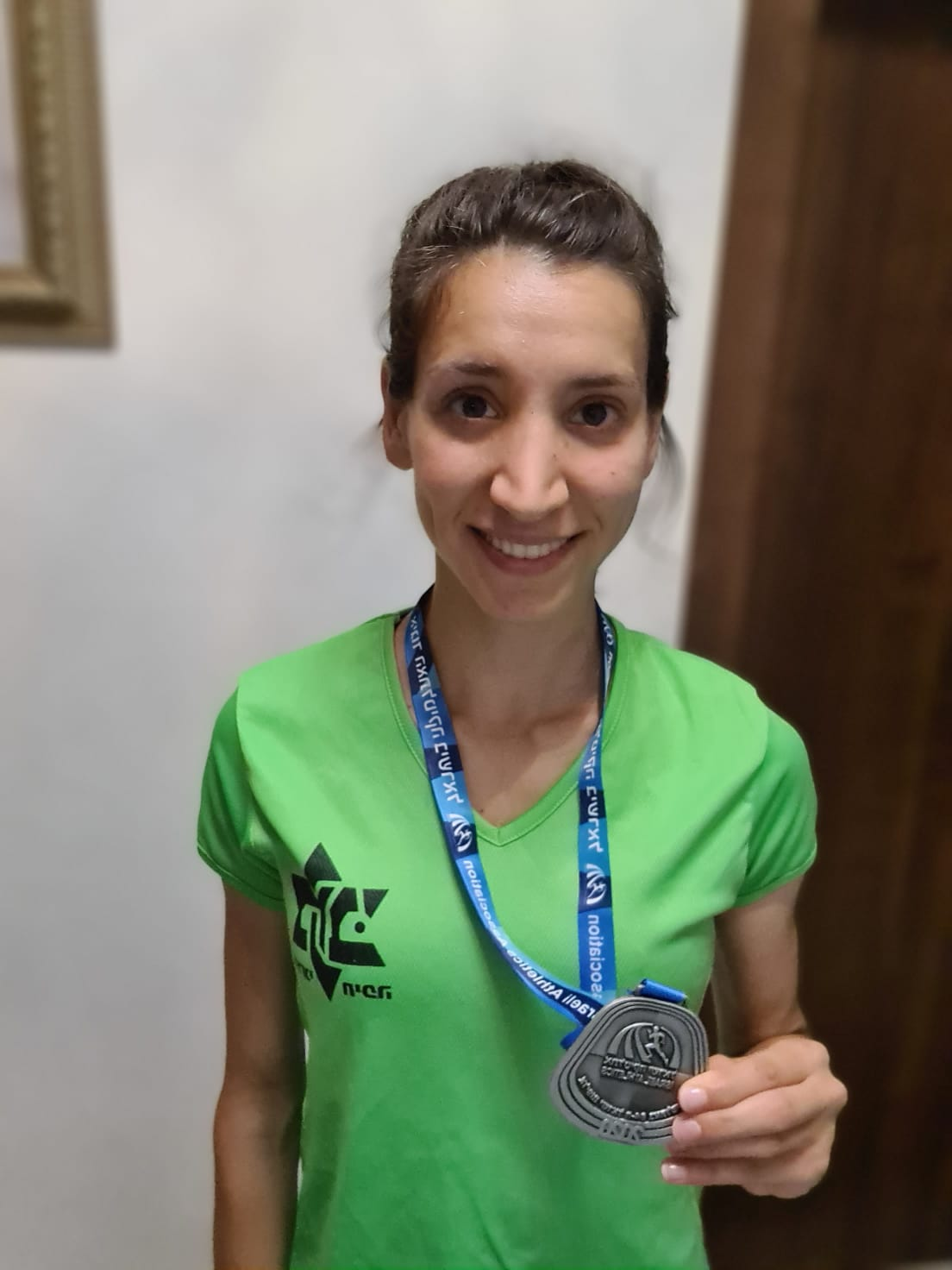 כרואן חלבי- סגנית אלופת ישראל בריצת 5000. תמונה: אגודת מכבי חיפה כרמל