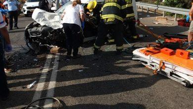 Photo of תאונת דרכים קשה עם לכודים ופצועים אנוש וקשה בהתנגשות בין שני רכבים בכביש 4 סמוך לצומת אורן