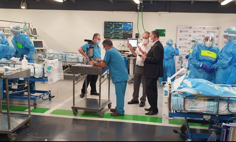 """Photo of צפו: לראשונה מאז שנבנה, רמב""""ם יפתח את בית החולים התת קרקעי שיקלוט חולי קורונה, זאת בשל הזינוק בחולים באזור חיפה"""
