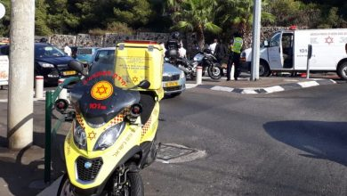 Photo of רוכב אופנוע בן 30 במצב אנוש לאחר שהחליק ברחוב טשרניחובסקי בחיפה