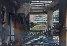 Photo of צפו: 7 צוותי כיבוי פועלים בשריפה גדולה בבניין מגורים ברחוב כליל החורש בנשר