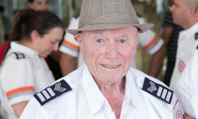 ניצול השואה, זקן מתנדבי מדא מוטקה ויזל צילום יחזקאל איטקין