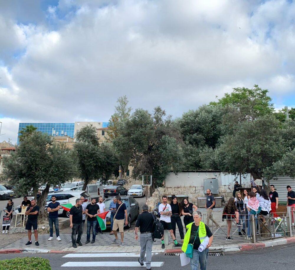 הפגנה בכיכר הנביאים. צילום פרטי