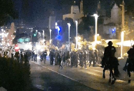 מהומות בבן גוריון. צילום פרטי
