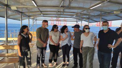 סיור של השדולה הפרלמנטרית להבראת מפרץ חיפה בהובלת איגוד ערים. צילום יחצ