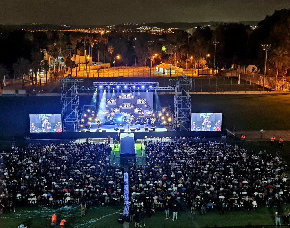 3000 צופים בהופעה של חנן בן ארי בנשר. צילום ניוזים